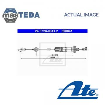 ATE CLUTCH CABLE RELEASE 24-3728-0841-2 P NEW OE REPLACEMENT